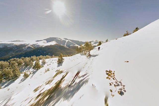 Nieve en la Montaña de Dos hermanas
