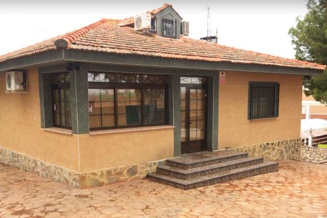 exterior casas rurales con piscina Finca los Almendros