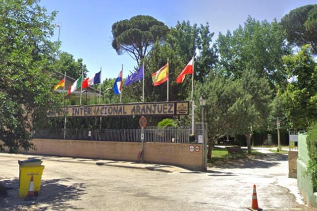 entrada camping Aranjuez Madrid